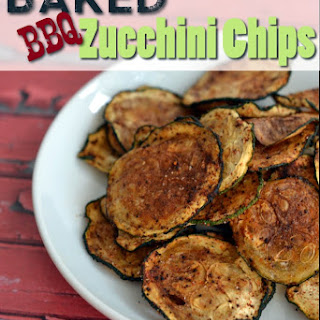 Baked BBQ Zucchini Chips