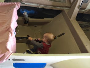"""Photo: """"Dad, no matter how much I move this lever, the plane still does not move."""""""