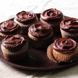 Almond Butter Cupcakes with Mocha Buttercream.