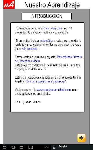 Evaluar  Expresiones 1.0.0 screenshots 2