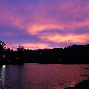 Mystical Evening by Nirmal Neelakandan - Landscapes Cloud Formations ( kodaikanal, sunset, lake, india, scenery, evening, mist )