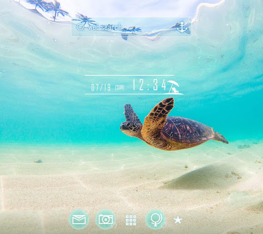 Sea Turtle's Swim +HOME Theme 1.0.0 Windows u7528 1