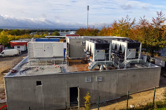 Photo: Vue générale - Groupes froids et électrogènes #datacenter #reims (Visite de chantier 16.10.2014)