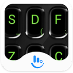 Black Green Keyboard Theme Apk