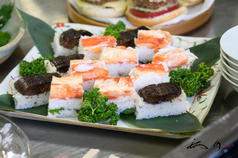 押し寿司(蟹&磨きにしんの甘露煮)
