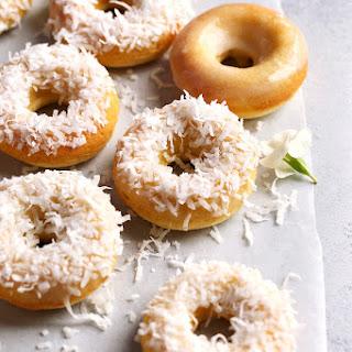 Baked Coconut Doughnuts.