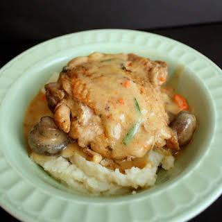 Crock Pot Chicken Fricasee.