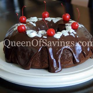 Chocolate Cherry Truffle Cake