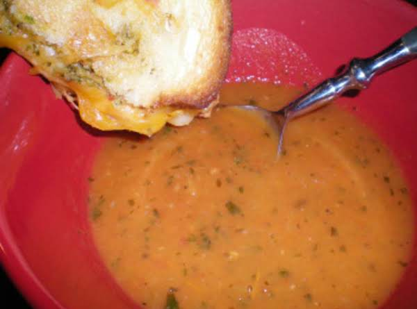 Roasted Tomato Soup And Grilled Cheese Sandwich