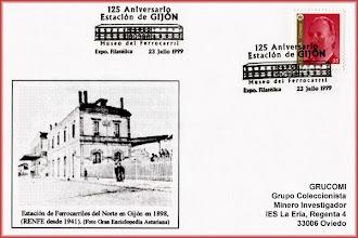 Photo: Matasellos del 125 Aniversario de la Estación de Gijón 1999
