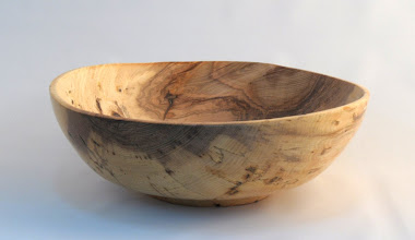 "Photo: Gary Nickerson - Bowl - 12"" x 4"" - Spalted Poplar  [10.09]"