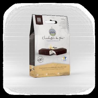 Chocolat Guimauves enrobées de chocolat noir Boîtes maison