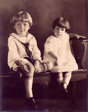 Photo: Gordon and his sister, Lois.