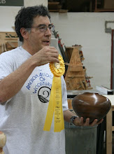 Photo: Clif Poodry came home from the Montgomery County Fair with a Senior Division Grand Champion ribbon for his walnut pot.