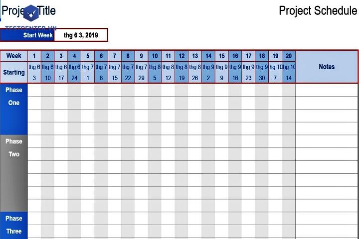 file excel quản lý tiến độ công việc 4