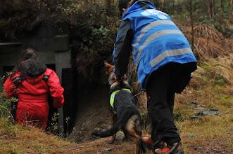 Photo: Dakota er klar for søk i mørk bunkers