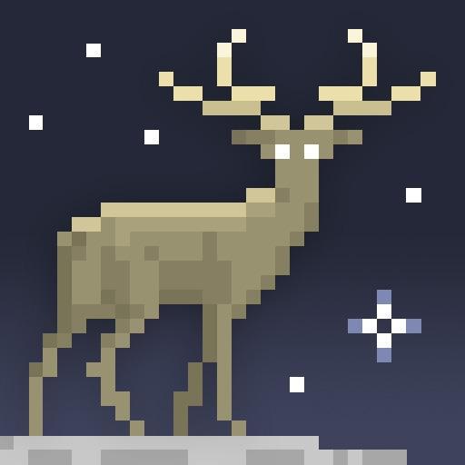 The Deer God - 3d Pixel Art