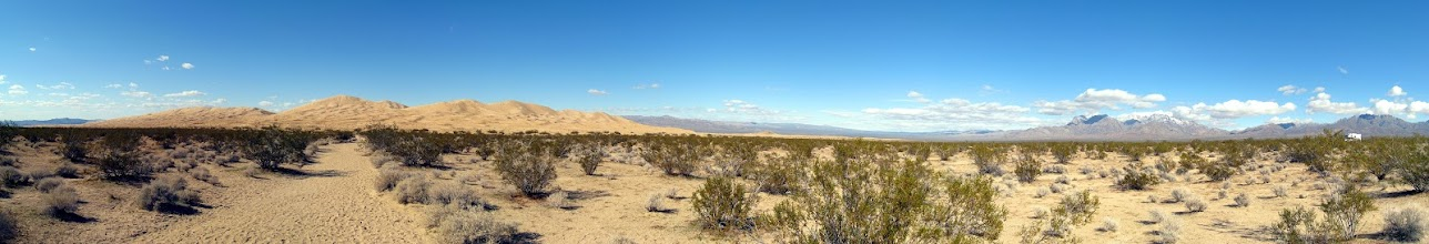 """Photo: Panorama of the Kelso Dunes. Use the """"Zoom In"""" button on top of the picture to enjoy."""