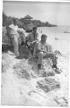 Photo: Joseph A Barreca Sr. (left) on Tinian, 1945