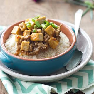 Tofu and Pork rice bowl