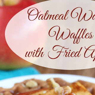 Oatmeal Walnut Waffles with Fried Apples