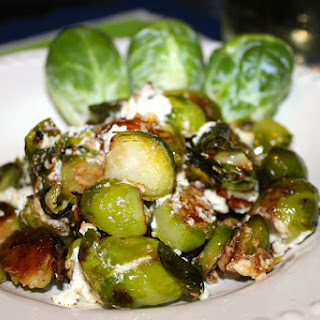 Savory Brussels Sprouts with Zesty Goat Cheese