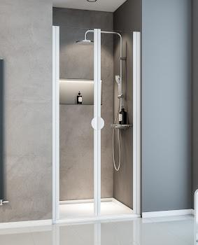 Portes de douche battantes en niche, 75 cm, 80 cm ou 90 cm