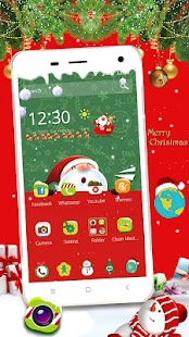 Merry Christmas Snow Wallpaper - náhled