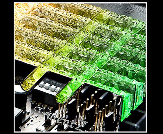 G.SKILL Trident Z Royal Series Crystalline Light Bar close-up