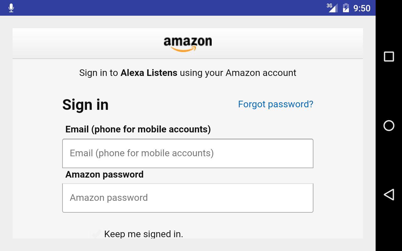 Listens for Alexa