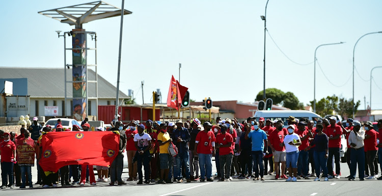 Members of the SA Federation of Trade Unions staged a march from New Brighton to the Gqeberha (formerly Port Elizabeth) City Hall on Wednesday, demanding that the government create more jobs