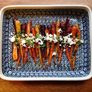 Moroccan Spiced Carrots with Feta and Mint