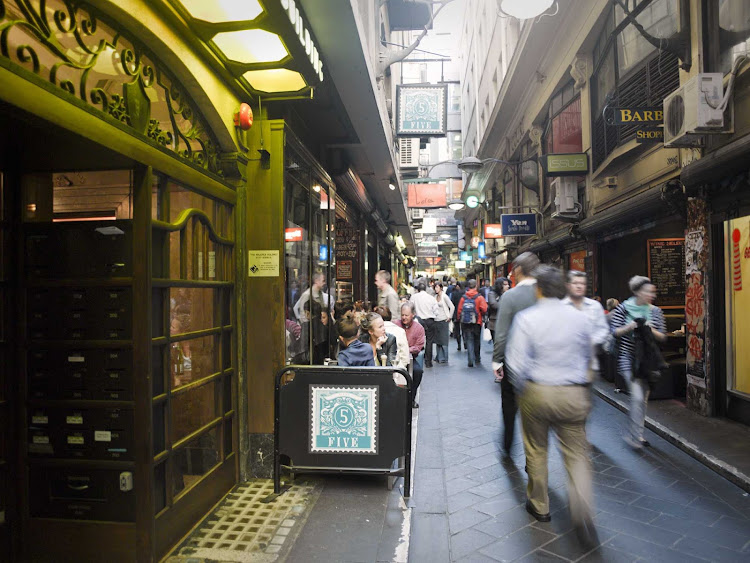 Shopping at Centre Place in Melbourne, Australia.