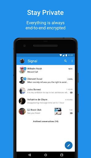 Signal Private Messenger 4.42.3 screenshots 1