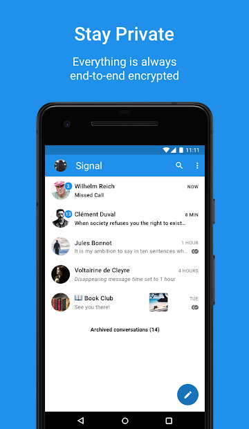 Signal Private Messenger Android App Screenshot
