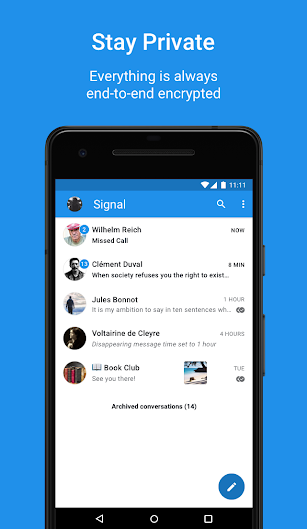 Signal Private Messenger screenshot for Android