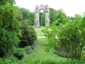 Photo: Ruins of the priory at Walsingham, destroyed by Henry VIII in 1558.