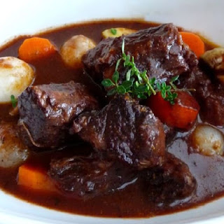 Slow Cooker Beef Stew Bourguignon.