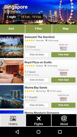 android Singapore Hotels and Flights Screenshot 0