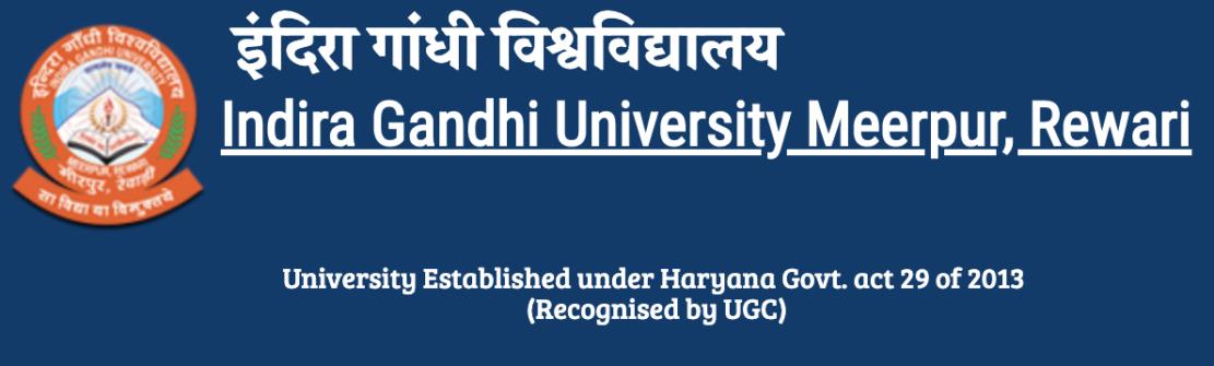 Indira Gandhi University Meerpur Result
