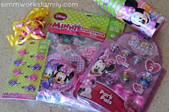 Photo: Our party favors were very easy to assemble! And I wrapped my daughter's gift in one of the Minnie bags I purchased.