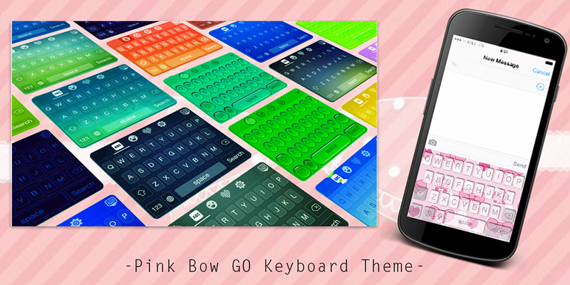 Pink-Bow-GO-Keyboard-Theme 2