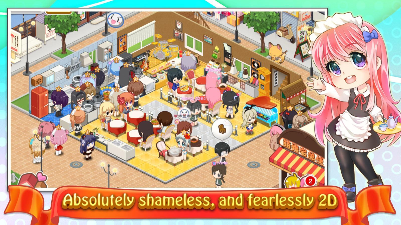 Resultado de imagem para moe girl cafe game