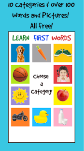 Learn First Words - Baby Flashcards - náhled