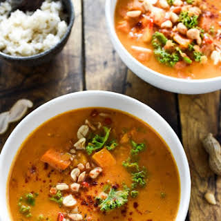 Coconut Red Lentil Peanut Soup.