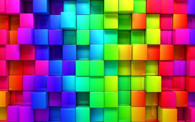 rainbow 3d blocks