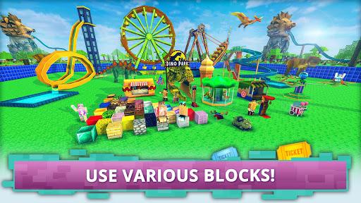 Dino Theme Park Craft: Ride Dinosaur Rollercoaster screenshots 2