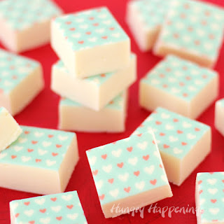Decorate White Chocolate Fudge with Sugar Stamps
