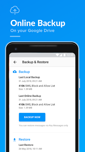 Key Messages - SMS, Text blocker, Backup & restore  screenshots 5