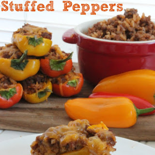 Mini Stuffed Peppers.